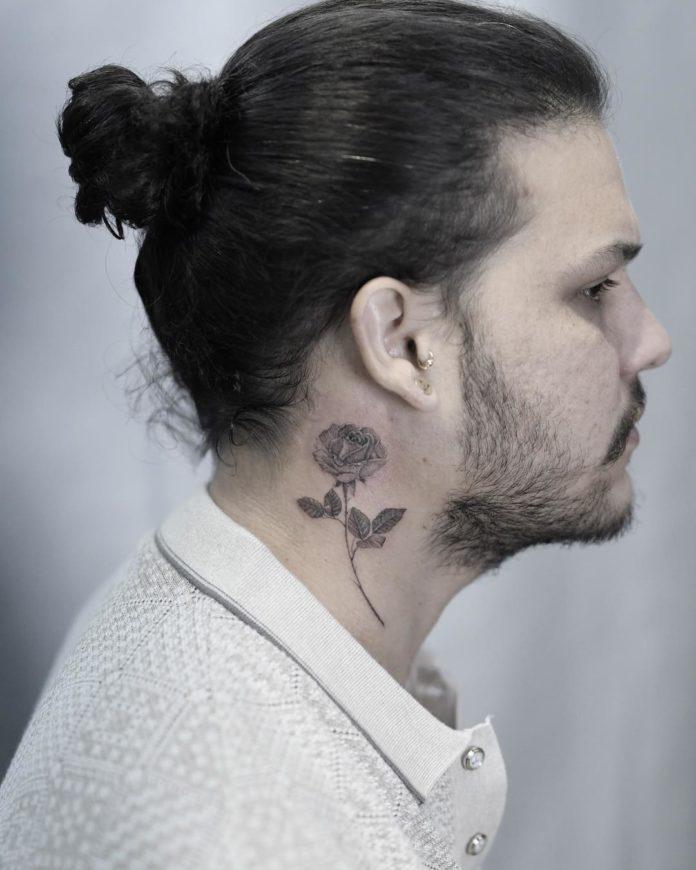 19 7 - Tatouage Cou pour Homme (100 photos)