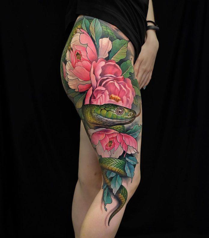 19 new - Idées de Tatouage Fleur pour Femme (100 photos)