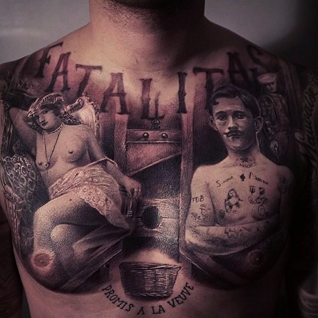 Tatouage d'un homme et une femme