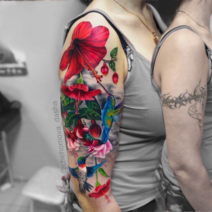 29 3 - Idées de Tatouage Fleur pour Femme (100 photos)