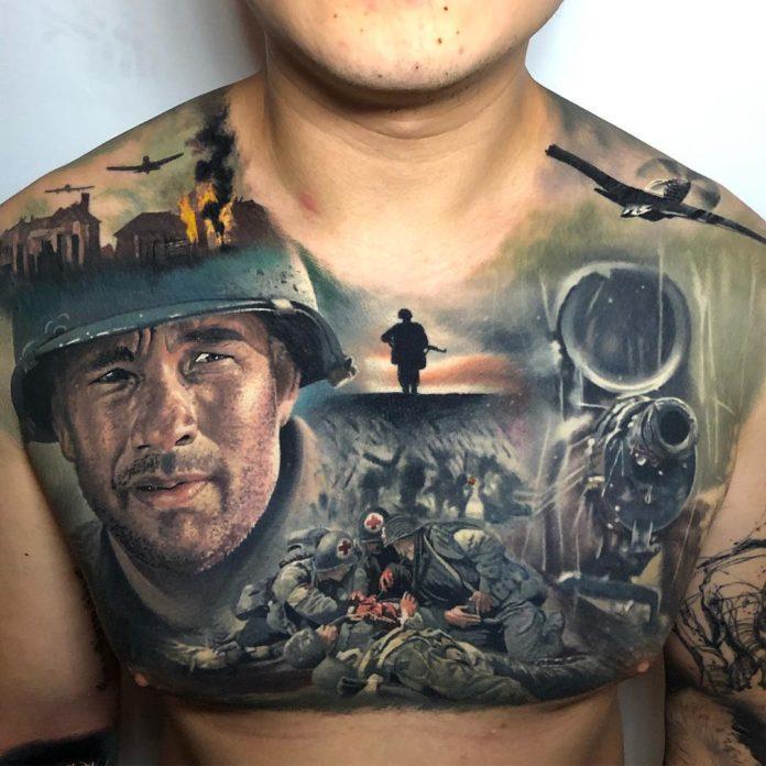 31 2 - 100 Tatouages Torse Homme Inspirants