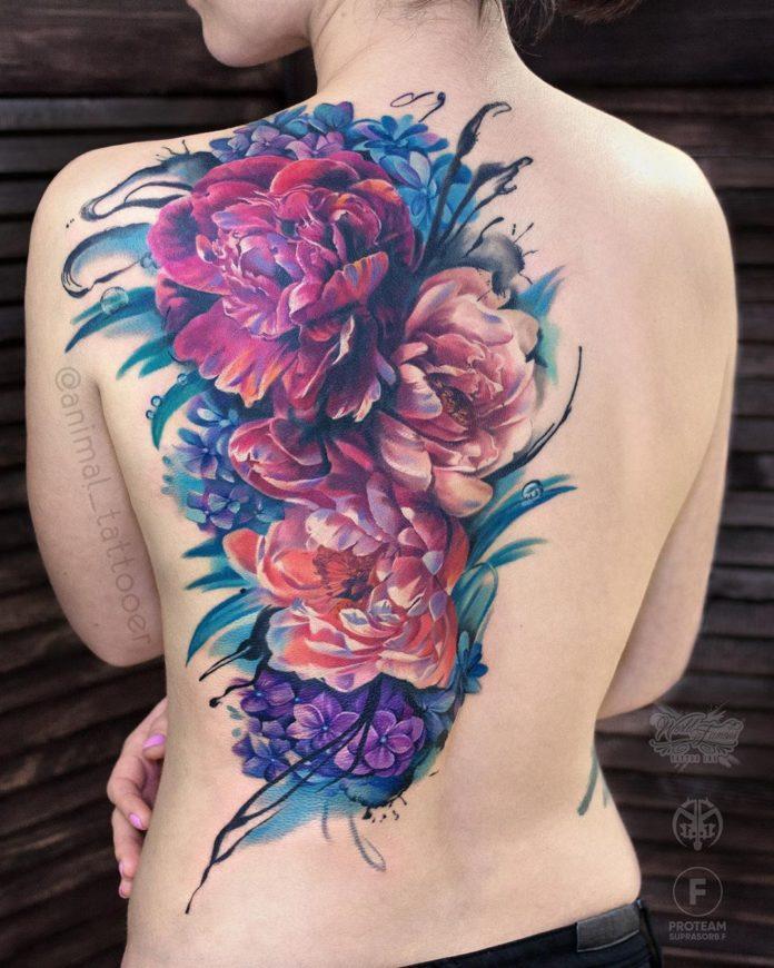 33 3 - Idées de Tatouage Fleur pour Femme (100 photos)