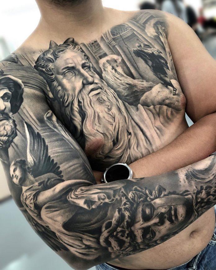 33 4 - 100 Tatouages Torse Homme Inspirants