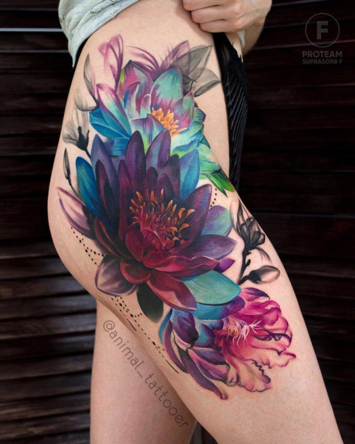 35 3 - Idées de Tatouage Fleur pour Femme (100 photos)