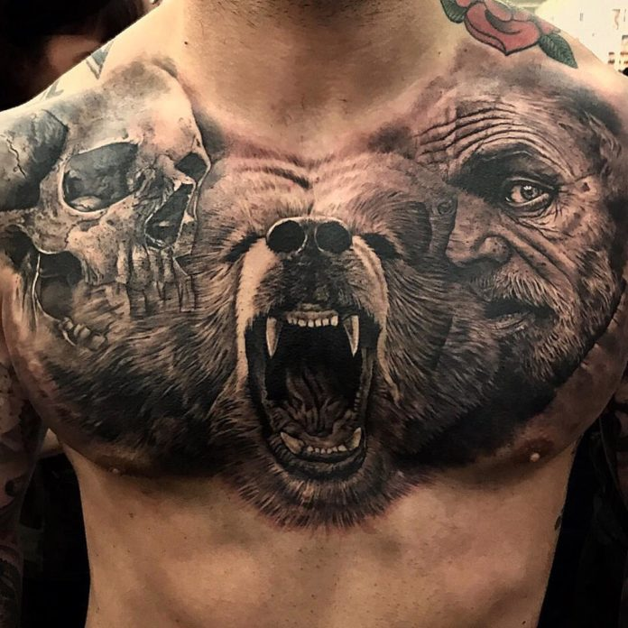 35 4 - 100 Tatouages Torse Homme Inspirants