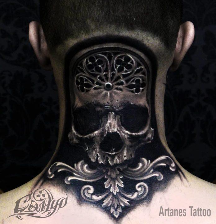 35 7 - Tatouage Cou pour Homme (100 photos)