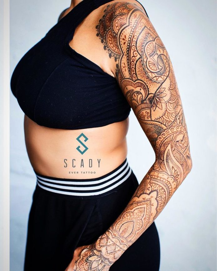42 new 3 - Top 100 Tatouages Bras Complet pour Femme
