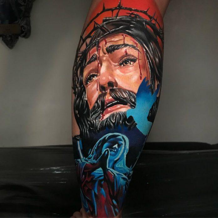 48 1 - Top 100 Tatouage Mollet Homme