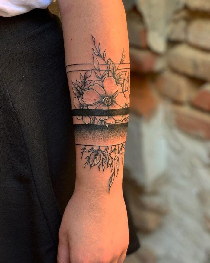 51 7 - 100 idées de Tatouages Bracelet pour Femme