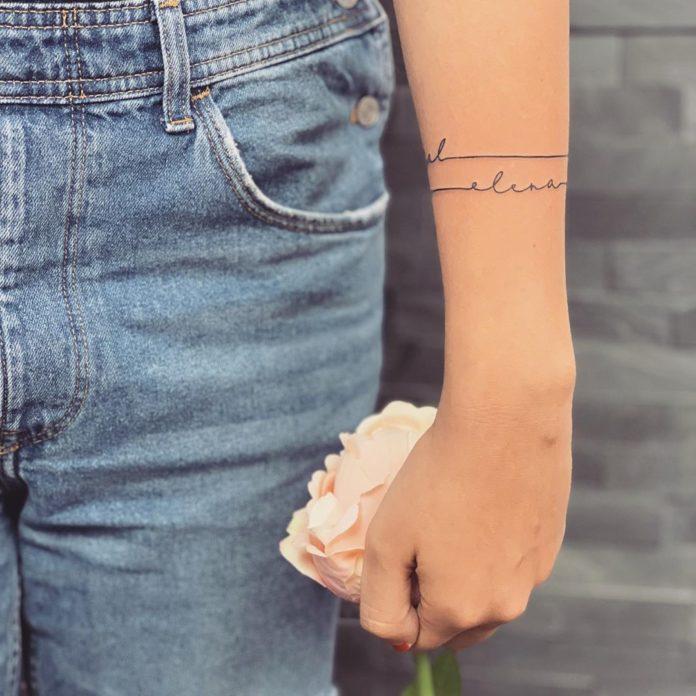 53 7 - 100 idées de Tatouages Bracelet pour Femme