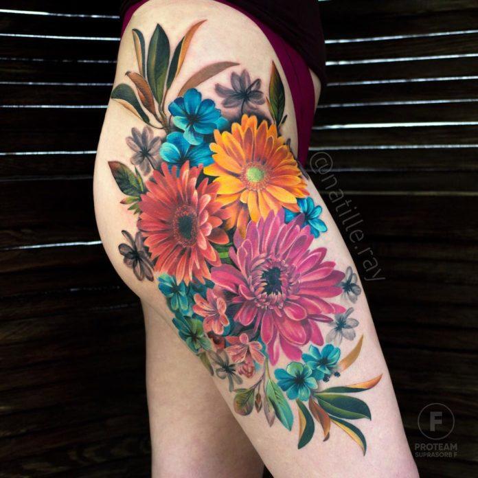56 3 - Idées de Tatouage Fleur pour Femme (100 photos)