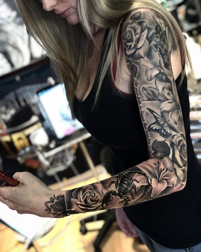56 new - Top 100 Tatouages Bras Complet pour Femme