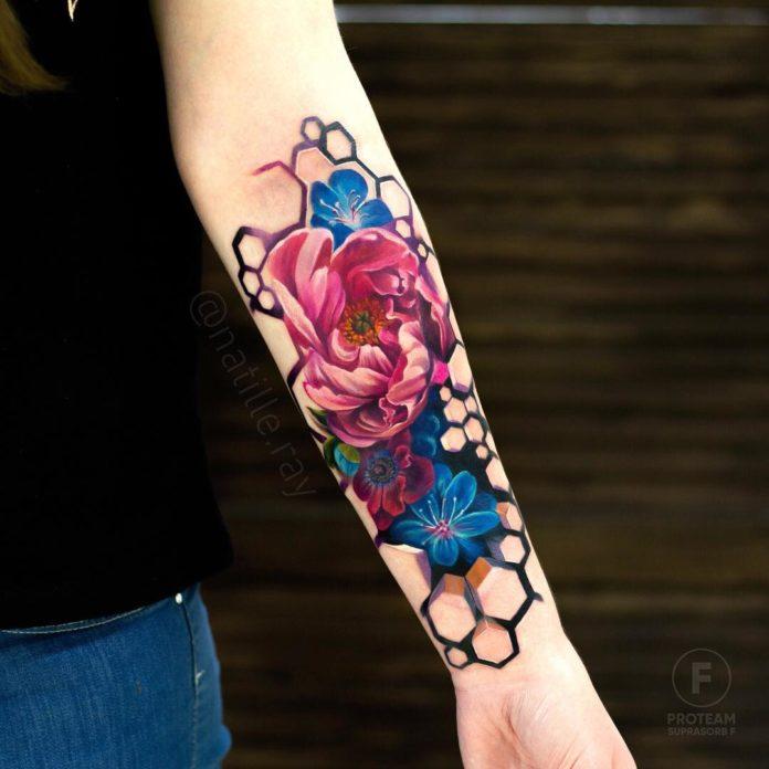 57 3 - Idées de Tatouage Fleur pour Femme (100 photos)