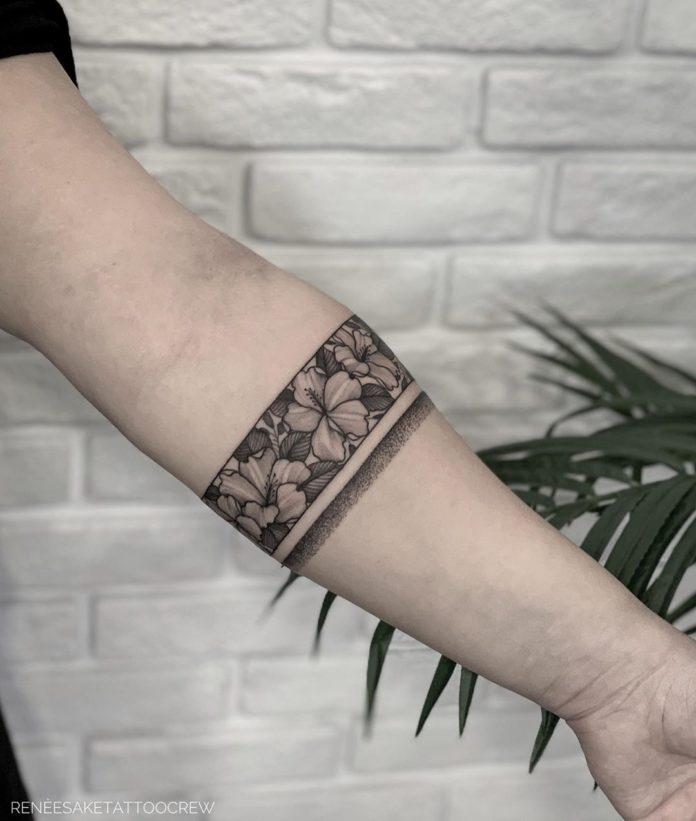 58 8 - 100 idées de Tatouages Bracelet pour Femme