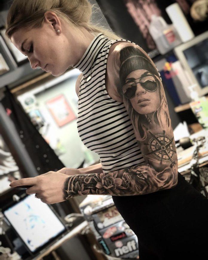 58 new 2 - Top 100 Tatouages Bras Complet pour Femme