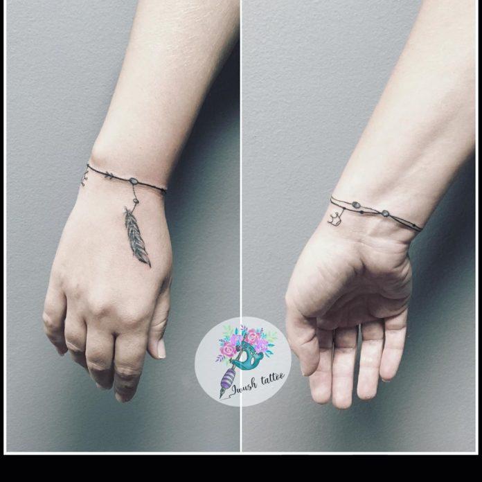 61 8 - 100 idées de Tatouages Bracelet pour Femme