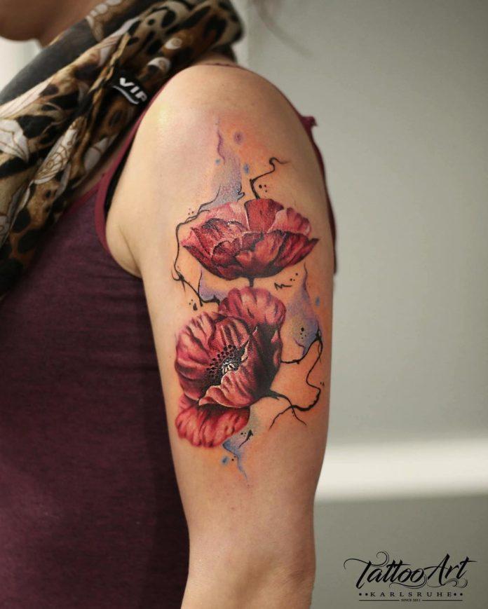 62 3 - Idées de Tatouage Fleur pour Femme (100 photos)