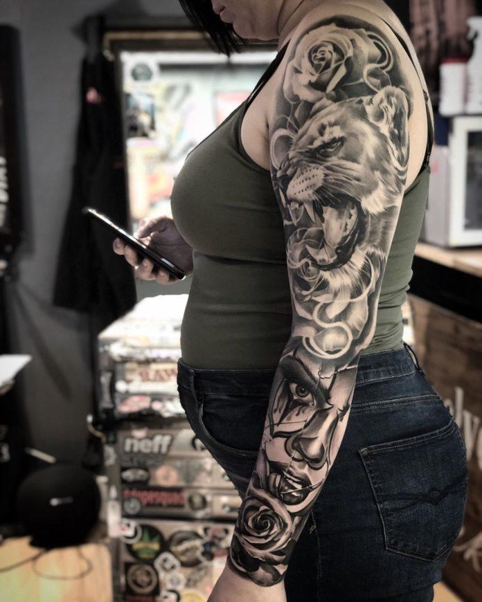 66 new 1 - Top 100 Tatouages Bras Complet pour Femme