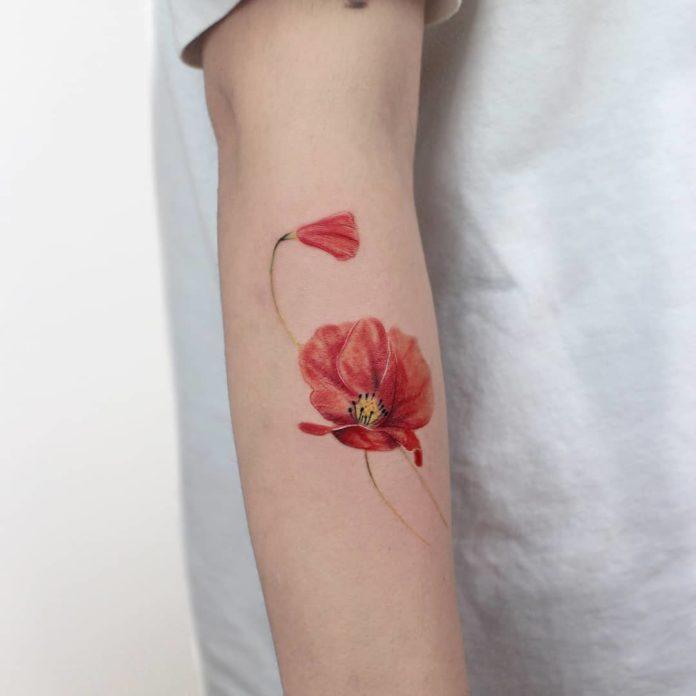 78 3 - Idées de Tatouage Fleur pour Femme (100 photos)