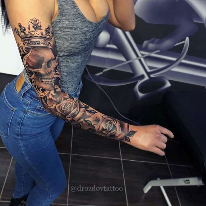 79 new 1 - Top 100 Tatouages Bras Complet pour Femme