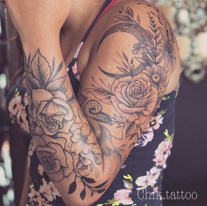82 new e1574132319813 - Top 100 Tatouages Bras Complet pour Femme