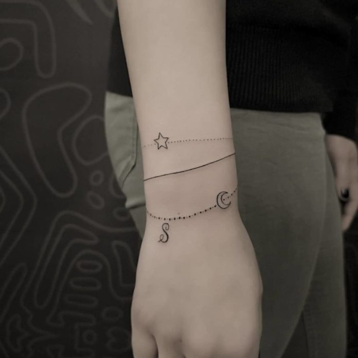 85 7 - 100 idées de Tatouages Bracelet pour Femme