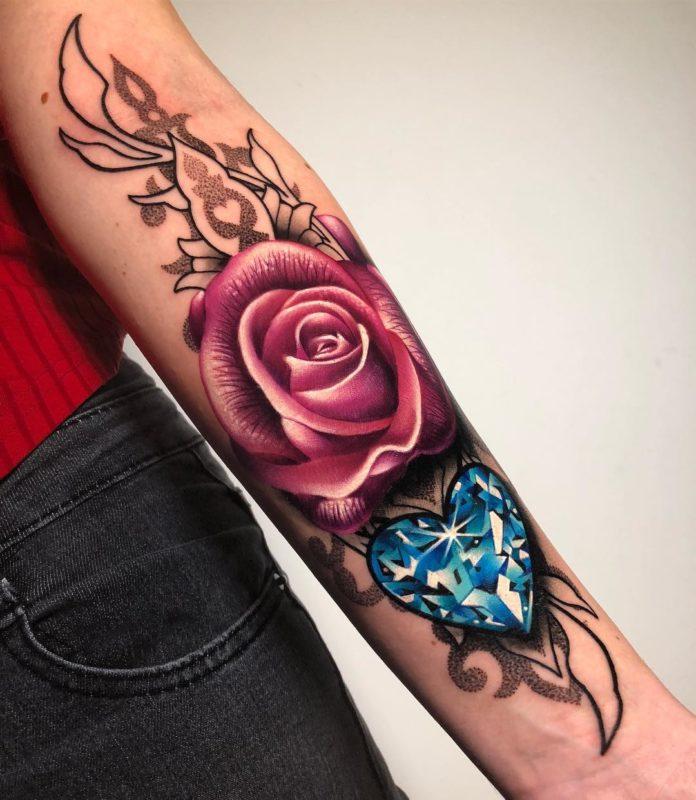 89 6 - 100 des plus beaux Tatouages Coeur pour Femme