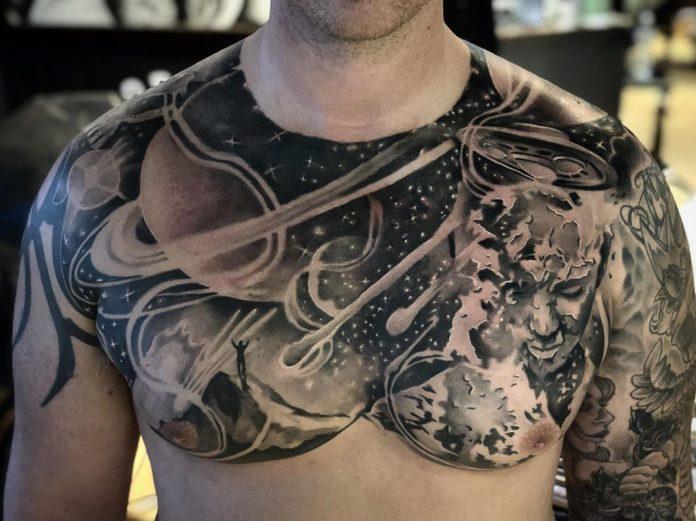9 2 - 100 Tatouages Torse Homme Inspirants