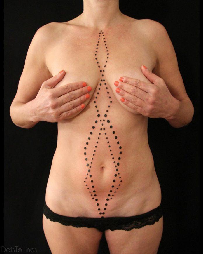 Tatouage géometrique de points