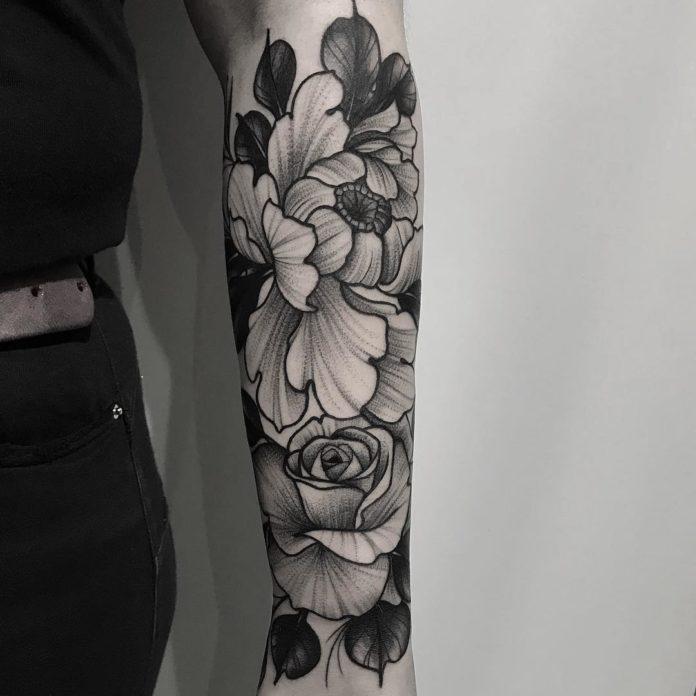 91 3 - Idées de Tatouage Fleur pour Femme (100 photos)