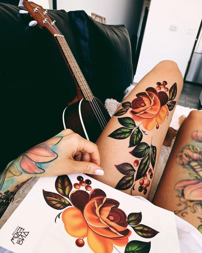 94 4 - Idées de Tatouage Fleur pour Femme (100 photos)