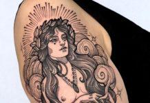 Tatouage épaule femme