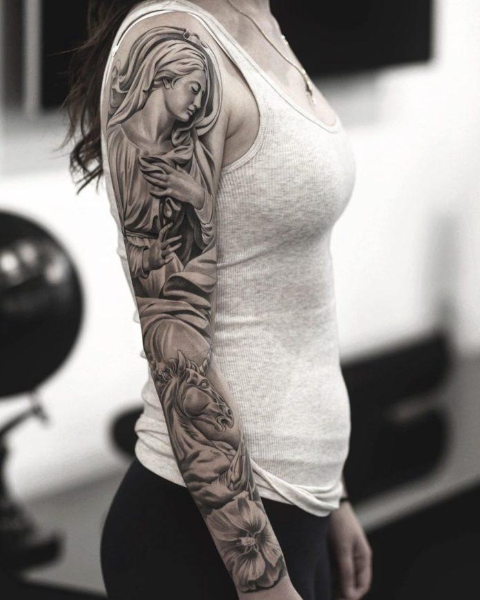 96 new 2 - Top 100 Tatouages Bras Complet pour Femme