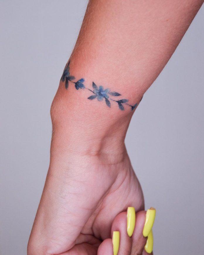 96 new 3 - 100 idées de Tatouages Bracelet pour Femme