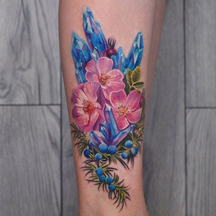 98 3 - Idées de Tatouage Fleur pour Femme (100 photos)