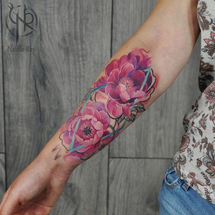 99 3 - Idées de Tatouage Fleur pour Femme (100 photos)