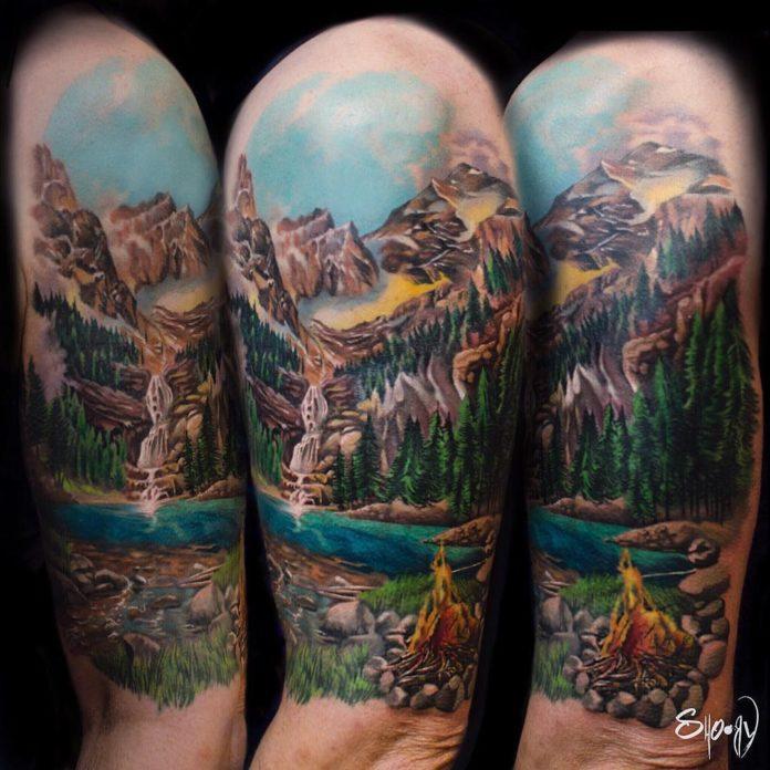 12 4 - 40 Tatouages Montagne pour Homme