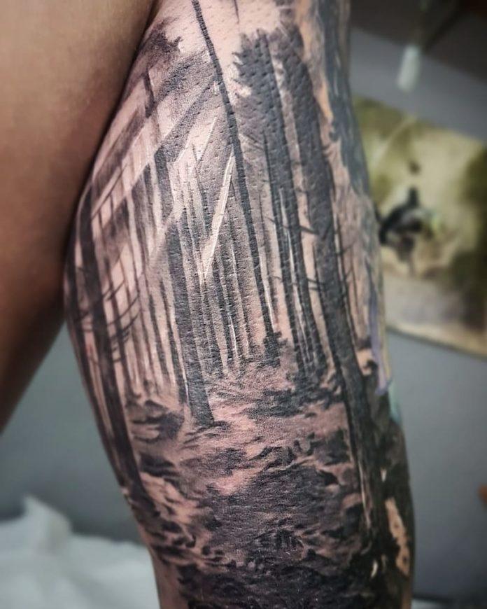 12 5 - 40 Tatouages Forêt pour Homme