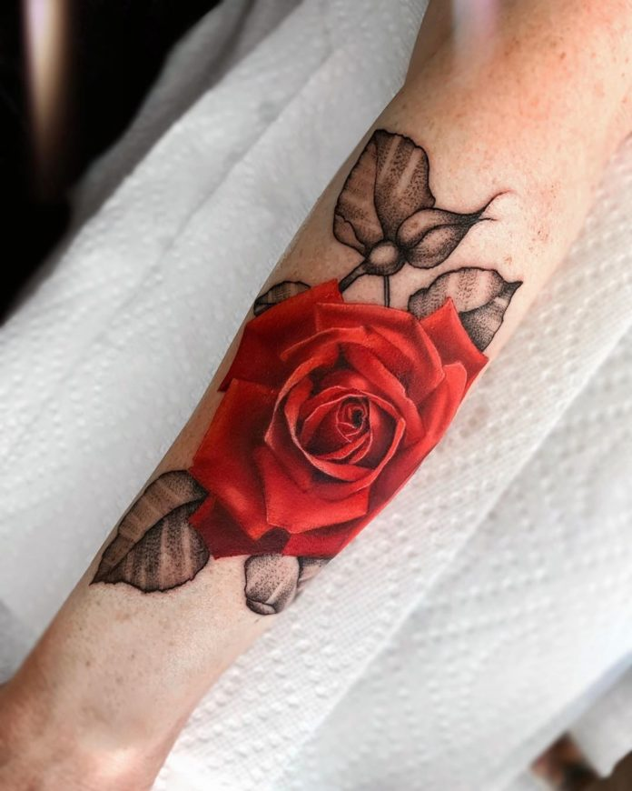 13 80 - 100 Tatouages Rose pour Femme