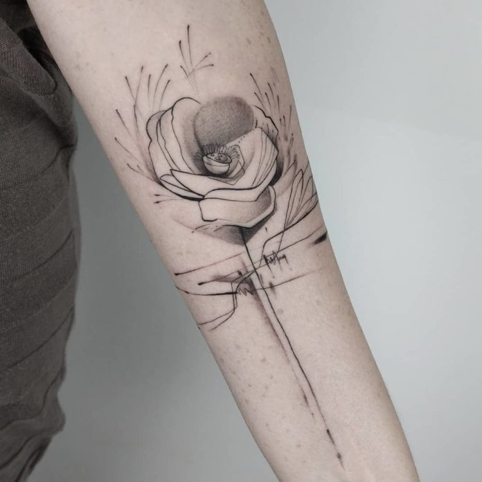 14 15 - 40 Tatouages Coquelicot pour Femme