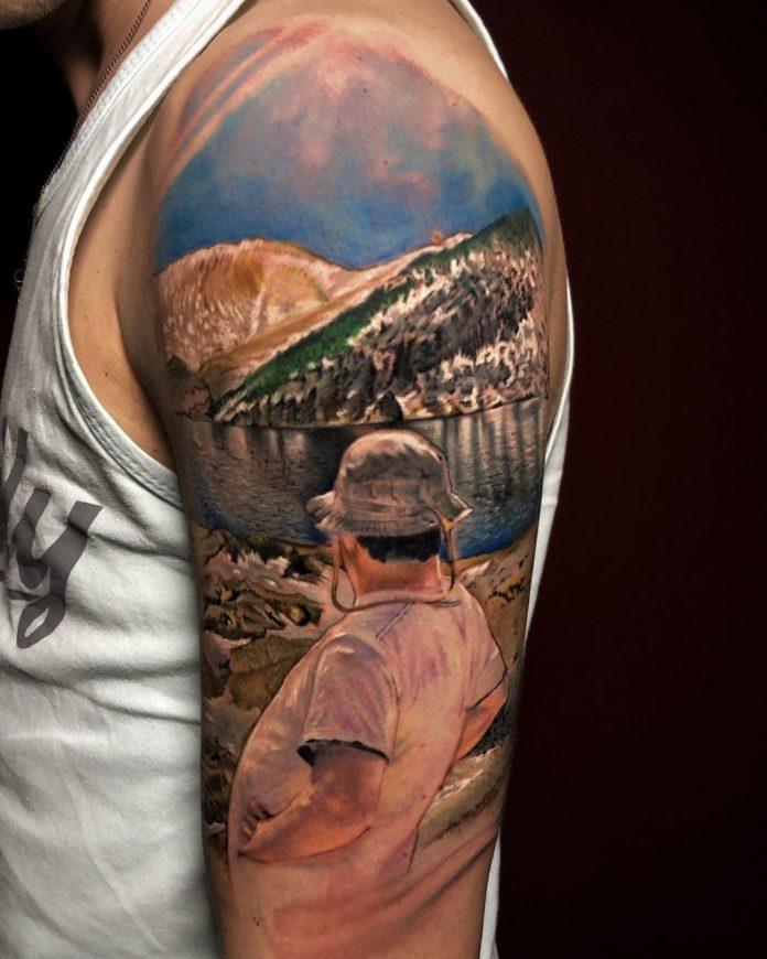 15 4 - 40 Tatouages Montagne pour Homme