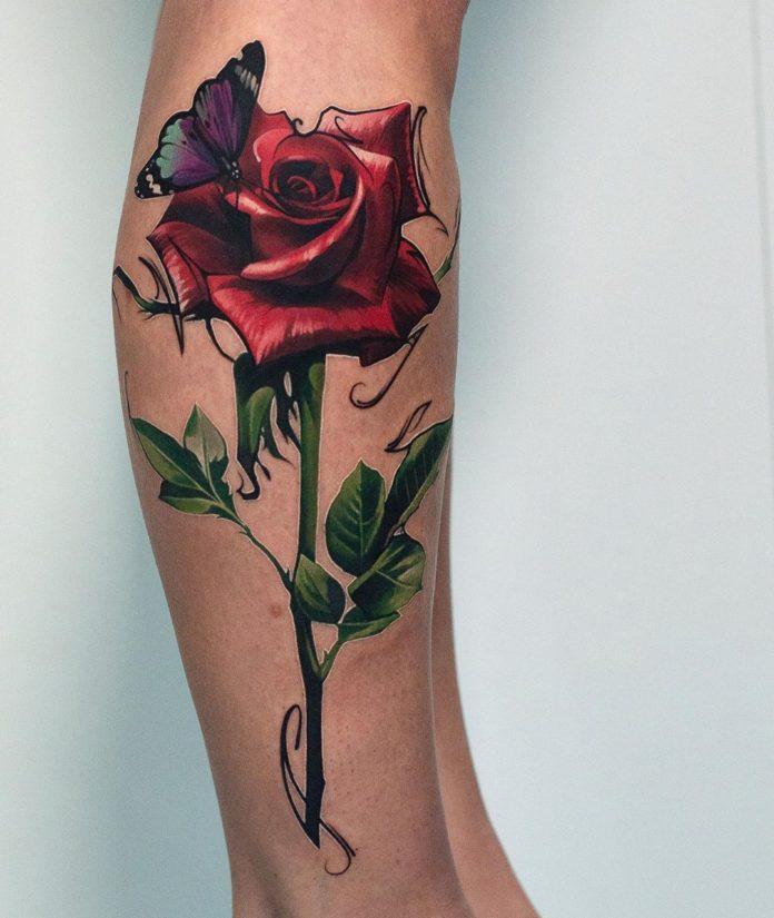 16 86 - 100 Tatouages Rose pour Femme