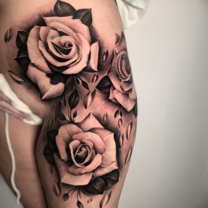 2 14 - 100 Tatouages Rose pour Femme