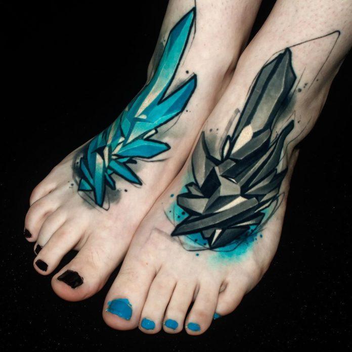 2 6 - 40 Tatouages Pied pour Femme
