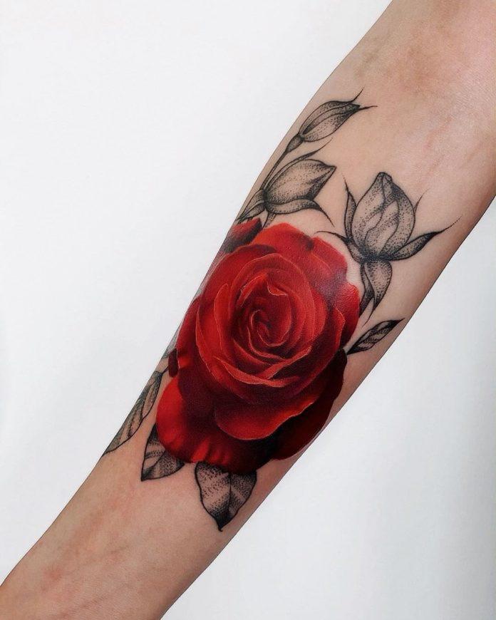 20 96 - 100 Tatouages Rose pour Femme