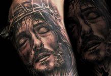 Tatouage de croix pour homme