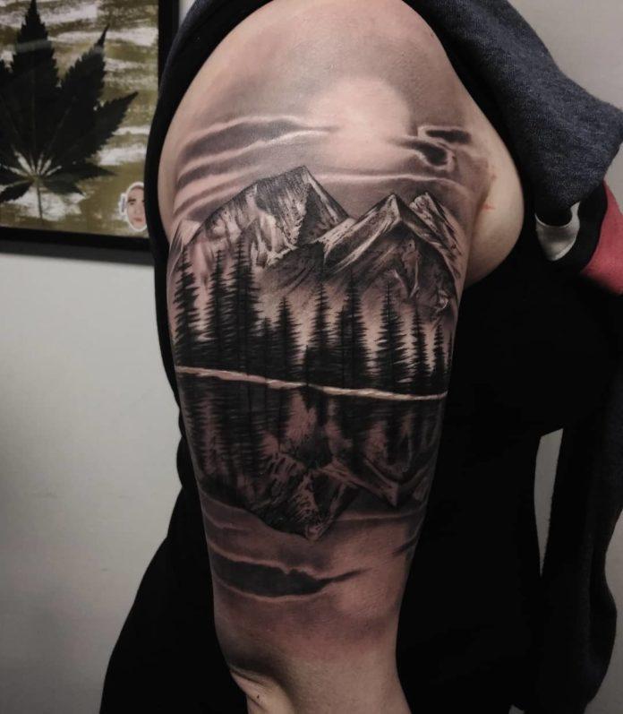 24 6 - 40 Tatouages Montagne pour Homme