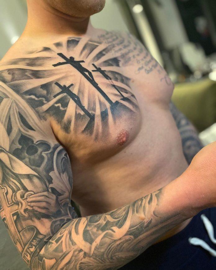 26 3 - 40 Tatouages Croix pour Homme