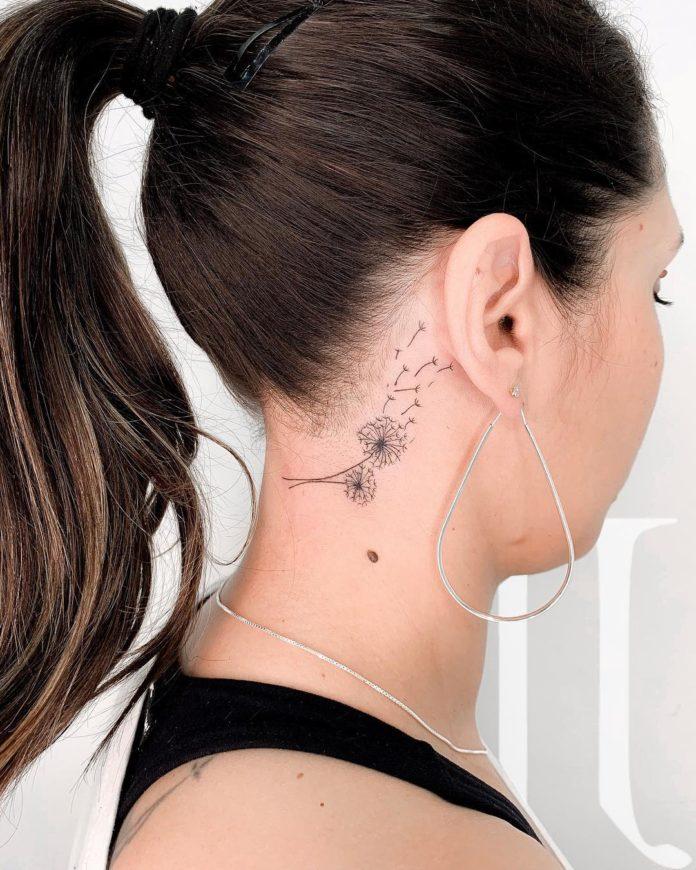 29 16 - 40 Tatouages Pissenlit pour Femme