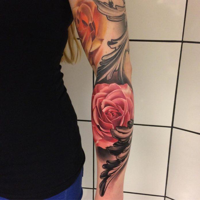 29 2 - 100 Tatouages Rose pour Femme